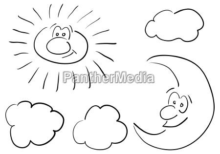 komiks twarz buzia ksiezyc ilustracja rysunek