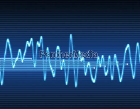 elektroniczna fala dzwiekowa sinusoidalna