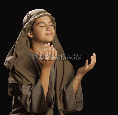 boy portraying a young jesus