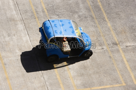 high angle view of a car