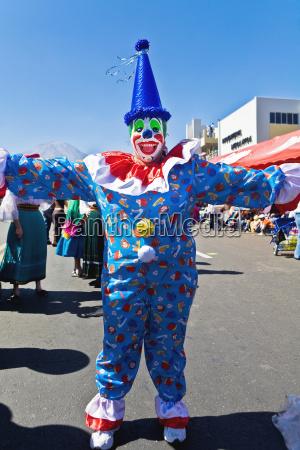 clown taniec na ulicy arequipa peru