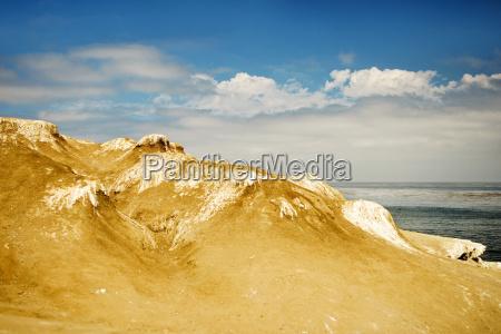 wysoki kat widzenia formacji skalnej na