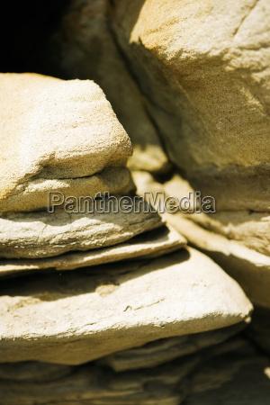zblizenie powierzchni formacji skalnej la jolla