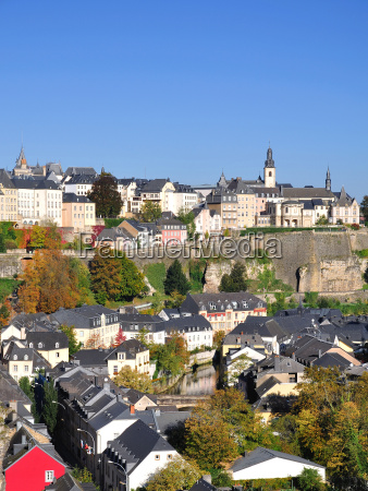 view over luxembourg grund