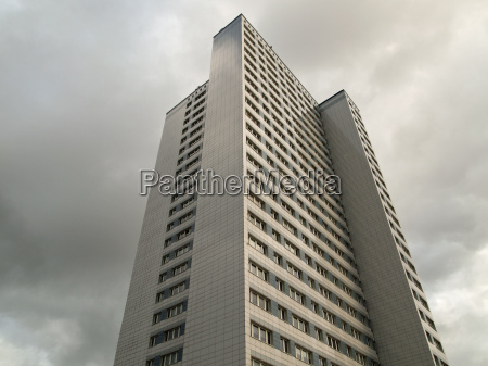 skyscraper in rostock meckelburg vorpommern germany