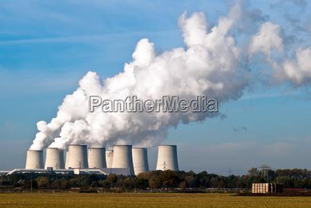 elektrownia wieza para wodna pary para