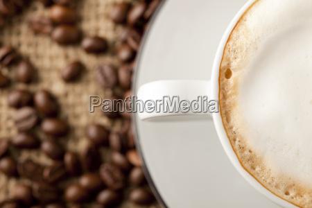 cappuccino z pianka mleka