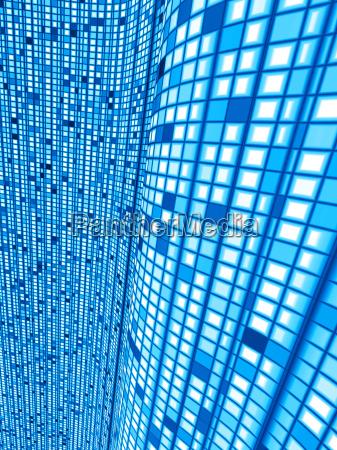 niebieski matrix fala tlo 02