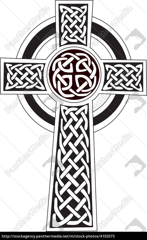 Stockphoto 4103373 Krzyż Celtycki Symbol Tatuaż Lub Grafiki