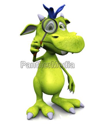 cute cartoon potwor z lupy