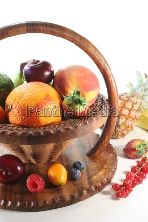 fruit mix in basket
