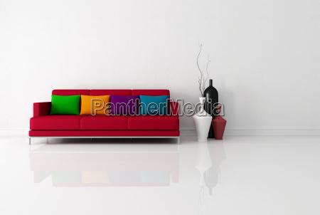 brigh minimalistyczny pokoj dzienny