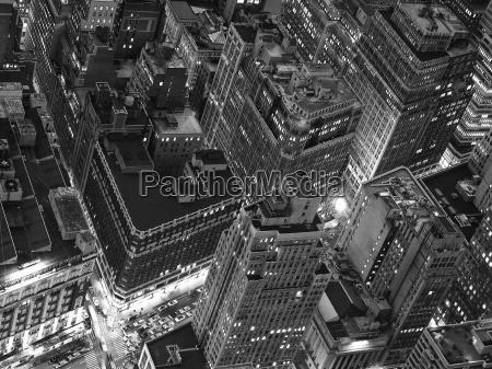night view of new york city