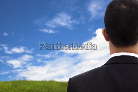 view of businessman039s back and