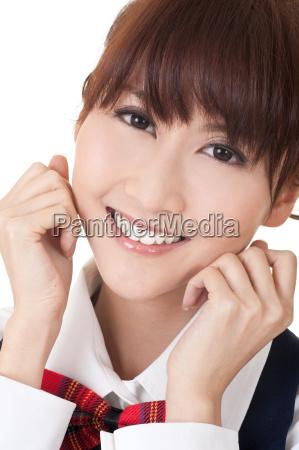 Ladny asian student dziewczyna