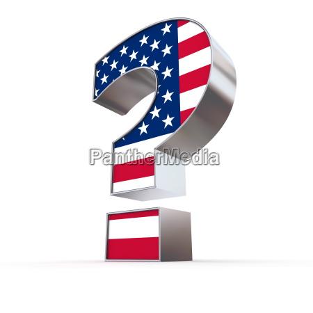 united states znak zapytania