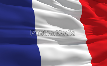 falowanie flaga francji