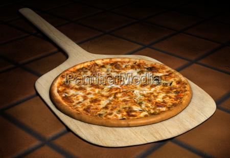 pizza, na, drewnianej, skórki - 4623758