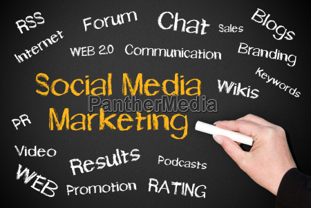 social media marketing business concept
