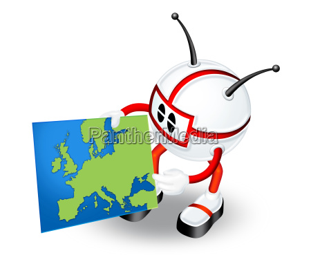 3d man with map