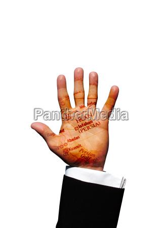iran hand