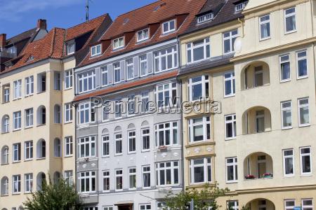 art nouveau facade in kiel germany