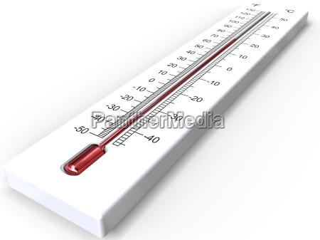 renderowanie 3d termometru bialego na bialym