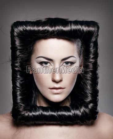 creative hairstyle