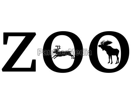 sinal opcional jardim grafico animal negro