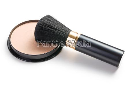 makijaz pedzla i kosmetycznych puderniczka
