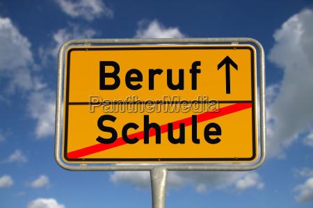 niemiecki znak miasto zawod szkola
