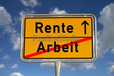 niemiecki znak miejsca pracy pensjonat