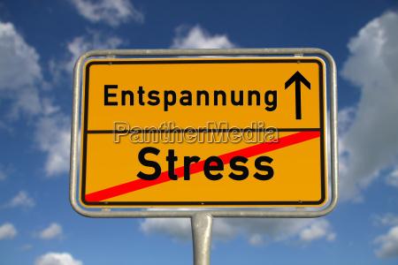 niemiecki znak miejsca stres relaks