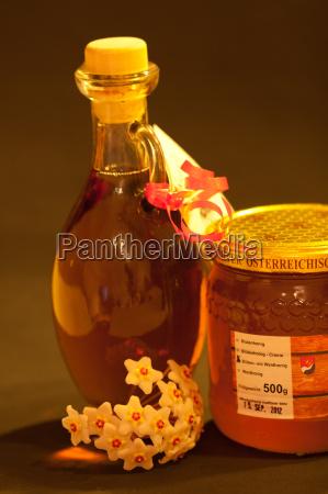 produkt szklisty miodu honey miod pszczelarz