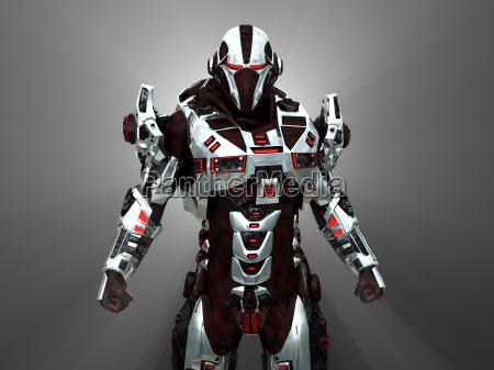 futurystyczny robota bitwy