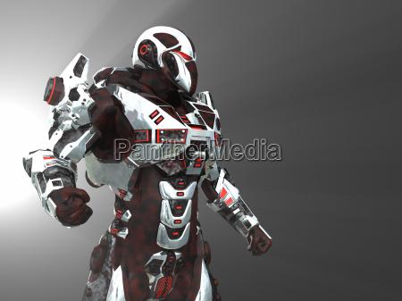 futurystyczny battle robot