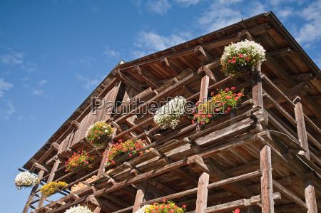 drewniane domy w ladinia