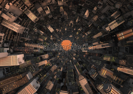 abstract city tunnel