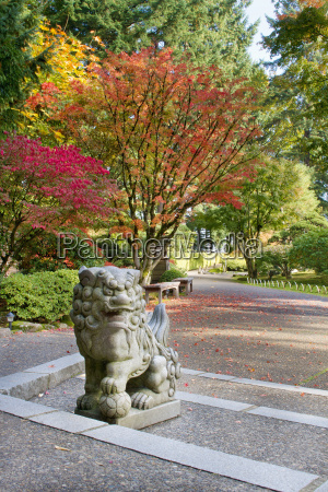 shishi lion protector stone statue in