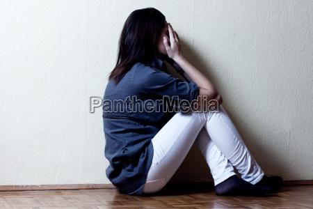 depresji dziewczyna tenage
