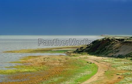 sylt morsum cliff z widokiem na
