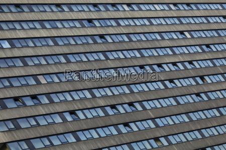 hochhausfassade in frankfurt