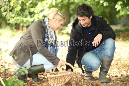 para zbieranie grzybow