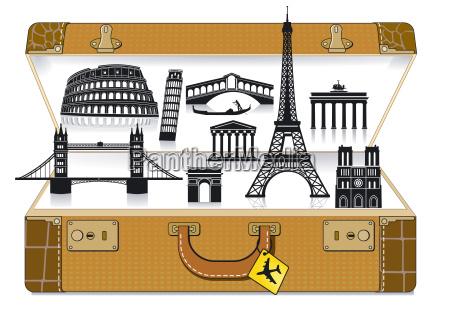 walizka podrozna w europie
