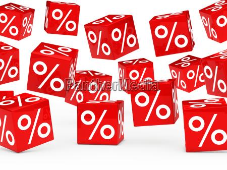 czerwone kostki procent sprzedazy
