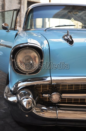 vintage car in havana in cuba