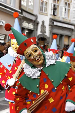 karnawal kostium blazen alemannic maseczka maska