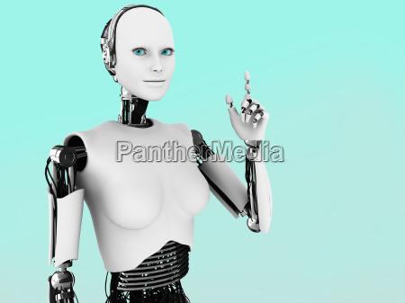 robot kobieta o pomysl