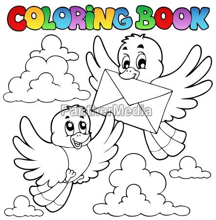 kolorowanka ptakow z koperta