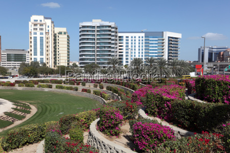 flowerbeds in the city of dubai